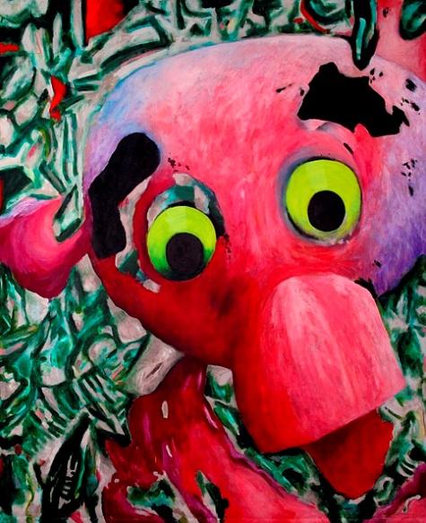 Pink Ragged Doll Head